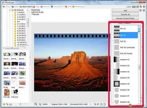 ภาพหน้าจอ PhotoScape สำหรับ Windows XP
