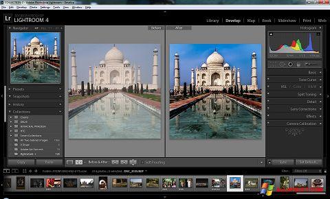 ภาพหน้าจอ Adobe Photoshop Lightroom สำหรับ Windows XP