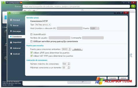 ภาพหน้าจอ MediaGet สำหรับ Windows XP