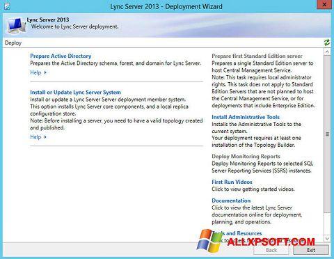 ภาพหน้าจอ Lync สำหรับ Windows XP