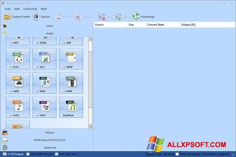 ภาพหน้าจอ Format Factory สำหรับ Windows XP