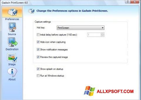 ภาพหน้าจอ Gadwin PrintScreen สำหรับ Windows XP