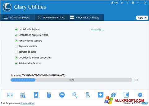 ภาพหน้าจอ Glary Utilities สำหรับ Windows XP