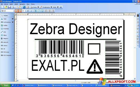 ภาพหน้าจอ Zebra Designer สำหรับ Windows XP