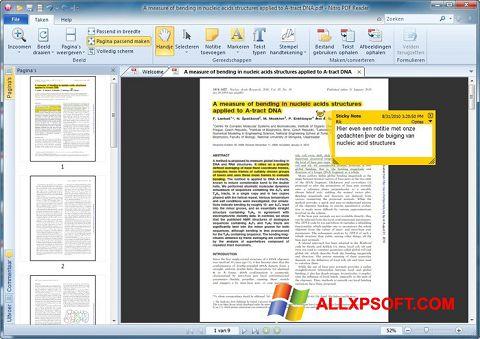 ภาพหน้าจอ Nitro PDF Reader สำหรับ Windows XP
