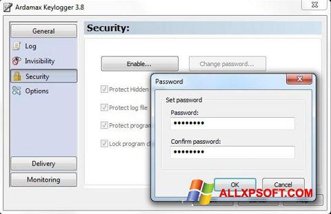 ภาพหน้าจอ Ardamax Keylogger สำหรับ Windows XP