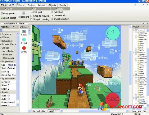 ภาพหน้าจอ Construct Classic สำหรับ Windows XP