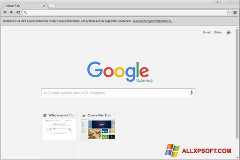 ภาพหน้าจอ Google Chrome สำหรับ Windows XP