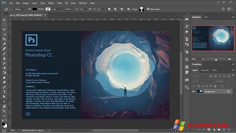 ภาพหน้าจอ Adobe Photoshop สำหรับ Windows XP