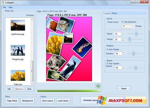 ภาพหน้าจอ CollageIt สำหรับ Windows XP