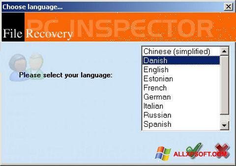 ภาพหน้าจอ PC Inspector File Recovery สำหรับ Windows XP