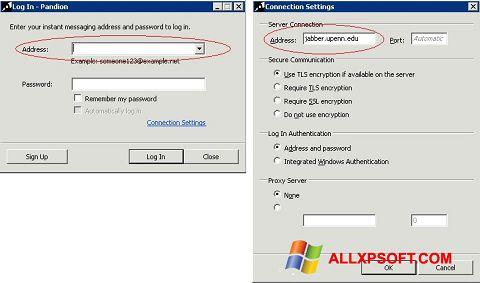 ภาพหน้าจอ Pandion สำหรับ Windows XP