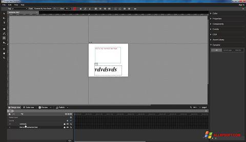 ภาพหน้าจอ Google Web Designer สำหรับ Windows XP