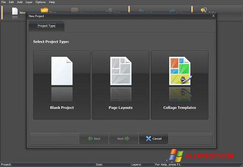 ภาพหน้าจอ PhotoMix Collage สำหรับ Windows XP