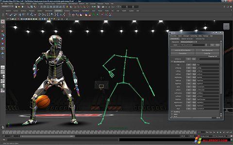 ภาพหน้าจอ Autodesk Maya สำหรับ Windows XP