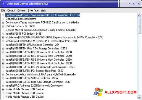 ภาพหน้าจอ Unknown Device Identifier สำหรับ Windows XP