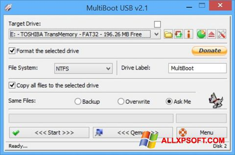 ภาพหน้าจอ Multi Boot USB สำหรับ Windows XP