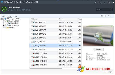 ภาพหน้าจอ USB Flash Drive Recovery สำหรับ Windows XP