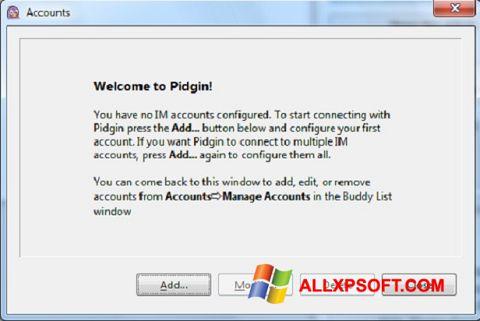 ภาพหน้าจอ Pidgin สำหรับ Windows XP
