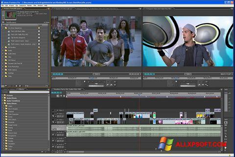 ภาพหน้าจอ Adobe Premiere Pro สำหรับ Windows XP