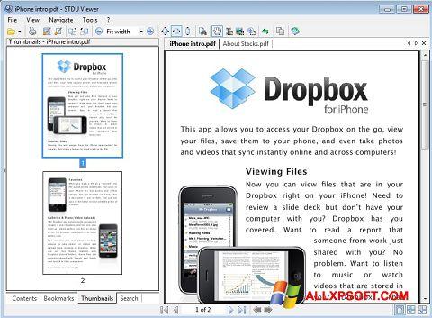 ภาพหน้าจอ STDU Viewer สำหรับ Windows XP