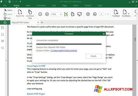 ภาพหน้าจอ PDF Editor สำหรับ Windows XP