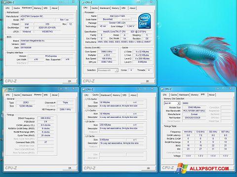 ภาพหน้าจอ CPU-Z สำหรับ Windows XP