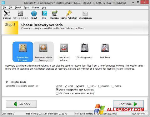 ภาพหน้าจอ EasyRecovery Professional สำหรับ Windows XP