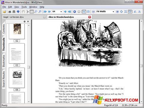 ภาพหน้าจอ DjView สำหรับ Windows XP