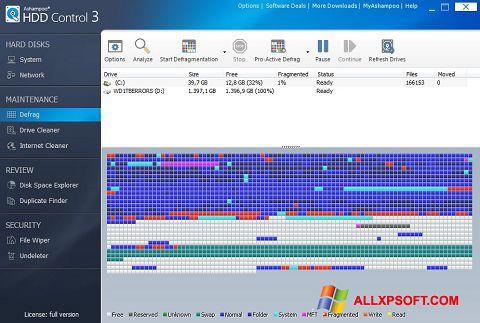 ภาพหน้าจอ Ashampoo HDD Control สำหรับ Windows XP