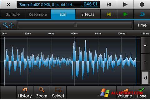 ภาพหน้าจอ NanoStudio สำหรับ Windows XP