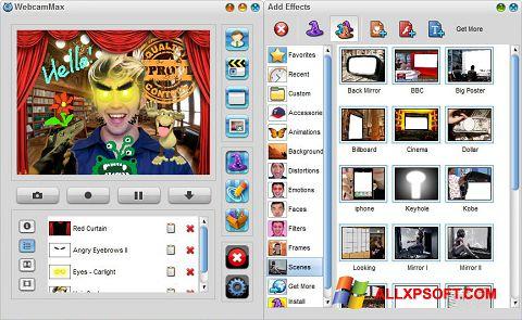 ภาพหน้าจอ WebcamMax สำหรับ Windows XP