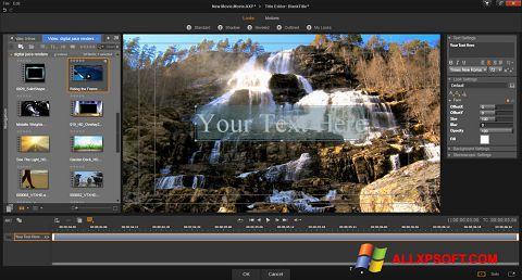 ภาพหน้าจอ Pinnacle Studio สำหรับ Windows XP