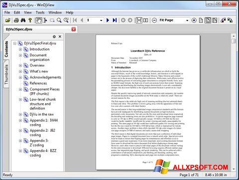 ภาพหน้าจอ WinDjView สำหรับ Windows XP