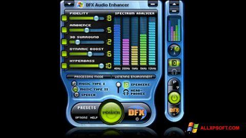 ภาพหน้าจอ DFX Audio Enhancer สำหรับ Windows XP