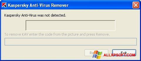 ภาพหน้าจอ KAVremover สำหรับ Windows XP