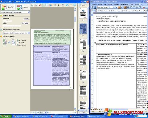ภาพหน้าจอ ABBYY PDF Transformer สำหรับ Windows XP