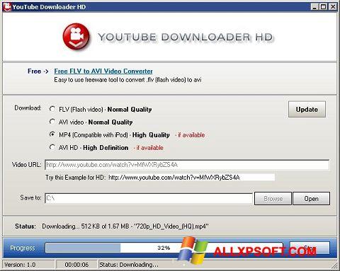ภาพหน้าจอ Youtube Downloader HD สำหรับ Windows XP